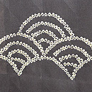 青海波と千鳥、紋錦紗の単衣羽織 質感・風合