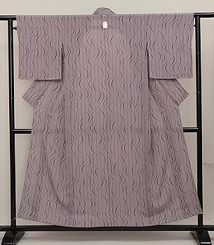 水紋の単衣小紋