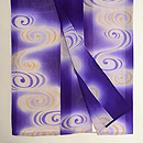 花紫に水輪の単衣小紋 上前