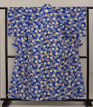 撫子の小紋単衣