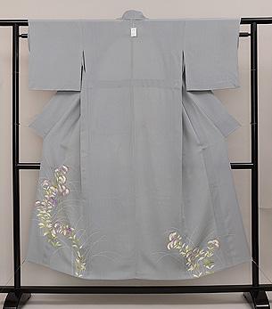 一つ紋おみなえしの裾模様単衣