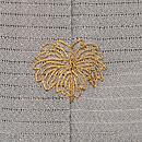波に秋草の絽縮面一つ紋付下 質感・風合