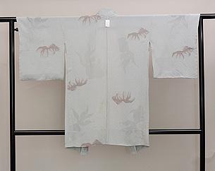 グレー地金魚の単衣羽織