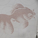 グレー地金魚の単衣羽織 質感・風合