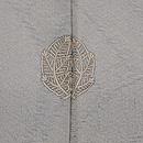 グレー地金魚の単衣羽織 背紋