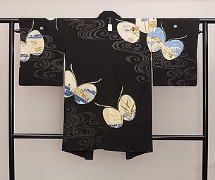 蝶々文単衣長羽織