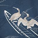 柳に川鵜の単衣小紋 質感・風合