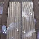 夏空に群れトンボ縦絽の羽織 質感・風合
