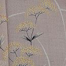 葡萄色秋草両褄模様色留袖 質感・風合