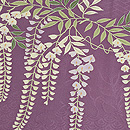 藤の花文様袷付下 質感・風合