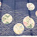 ススキ野に花丸紋訪問着小千谷縮 質感・風合