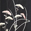 秋草の黒地夏羽織 質感・風合