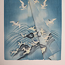 波千鳥絽の色留袖 上前