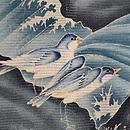 波千鳥絽の色留袖 質感・風合