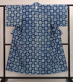 唐松縫い絞り木綿