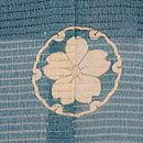 波千鳥絽の色留袖 背紋