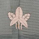 青磁色絽の色留袖 背紋