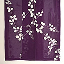 紫地萩の絽小紋 上前