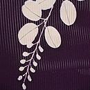 紫地萩の絽小紋 質感・風合