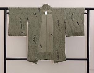 柳に燕単衣羽織