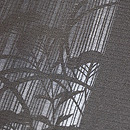 女郎花に蛍刺繡絽小紋 質感・風合
