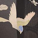 葛に青い鳥文様絽紗羽織 質感・風合