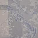 萩と波文様の単衣羽織 質感・風合