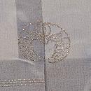 萩と波文様の単衣羽織 背紋