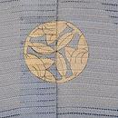 河辺文様絽の色留袖 背紋