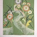 緑立涌地菊刺繍訪問着 上前