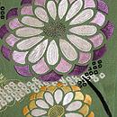 緑立涌地菊刺繍訪問着 質感・風合