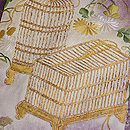 秋野に虫籠文様刺繍五つ紋訪問着 質感・風合