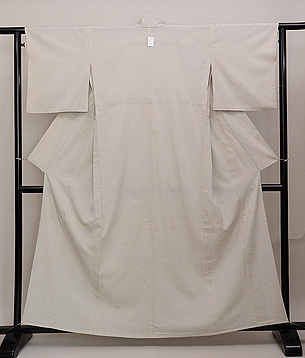 白地十字絣塩沢紬単衣