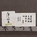 長江明夫作 蕨色綿薩摩140亀甲単衣 証紙