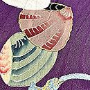 紫地貝桶文様色留袖 質感・風合