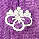 紫地貝桶文様色留袖 背紋