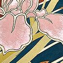 ときがら茶花筏の色留袖 質感・風合