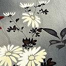 暈しに菊と南天の袷小紋 質感・風合