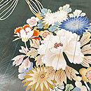 松葉色狆に花熨斗文様付下 質感・風合