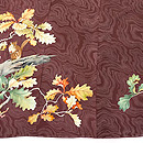 海老茶色かしわの木にリスの付下 質感・風合