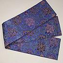 牡丹唐草緞子織半幅帯 帯裏