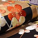 市松に糸巻きの袋帯 質感・風合