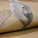 わらびの刺繍創作名古屋帯 質感・風合