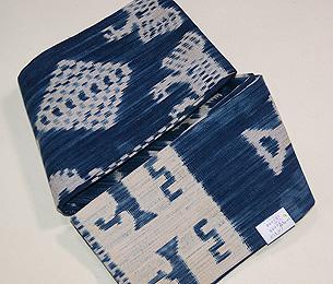 インドネシアトラジャの絣半巾帯