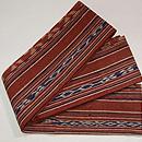 インドネシアの茜染め絣半巾帯 帯裏