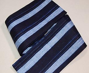 ナイジェリアヨルバの藍染め半巾帯