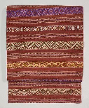 ラオスの織名古屋帯