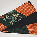 疋田に蝶の半巾帯 帯裏