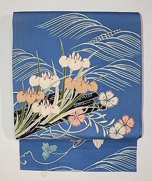 花筏菖蒲の名古屋帯
