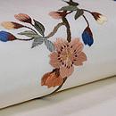 枝垂れ桜の刺繍名古屋帯 質感・風合